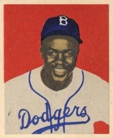 1949 Bowman Jackie Robinson 50 Rookie Card From Jackie