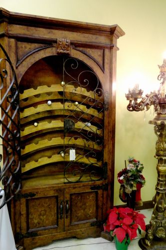 Bon Tuscan Wine Cabinet / Wine Rack / Armoire Childress Old World Furniture