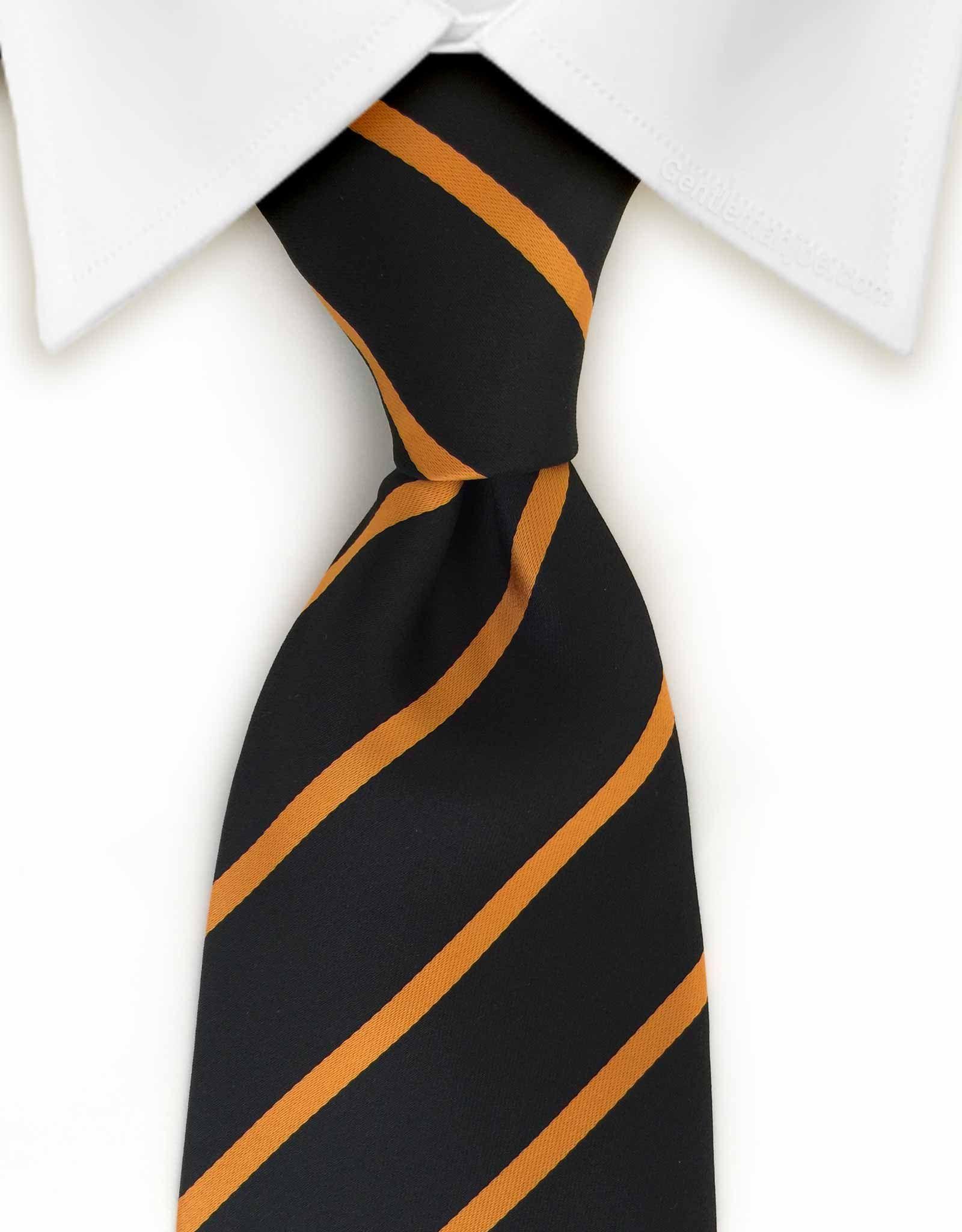 92aa91f88a14 Black & Orange XL Striped Tie | Splash The White Shirt | Tie, Black ...