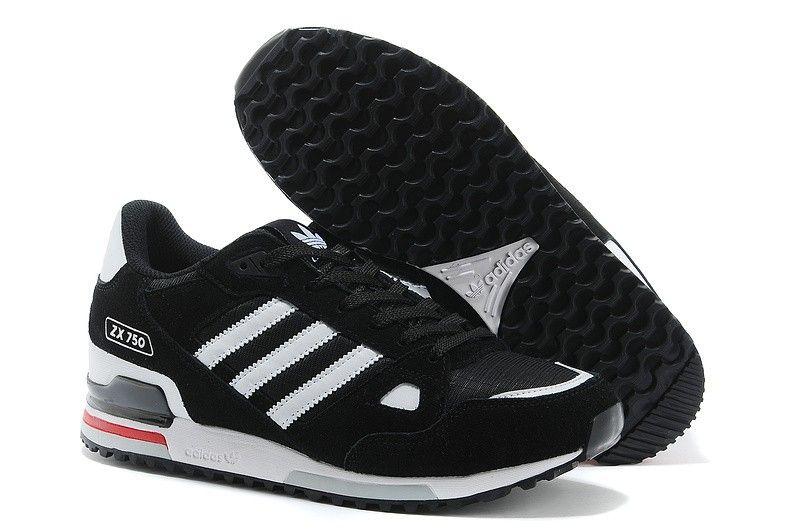 Zapatillas Adidas Zx 750 Hombre G64001 Negras Blancas Adidas Shoes Superstar Adidas Adidas Shoes Online