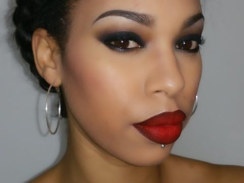 Smoky Eyes Red Ombre Lips Tasha Makeup Youtube Red Ombre