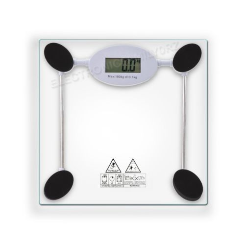 180kg Digital Electronic Lcd #bathroom Weighing #scale Glass Weight ##scales  Kg Lb