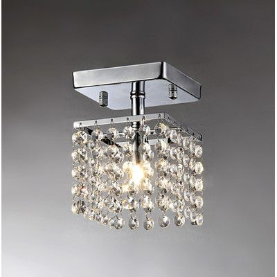 Youll love the jhea 1 light crystal chandelier at wayfair great deals on