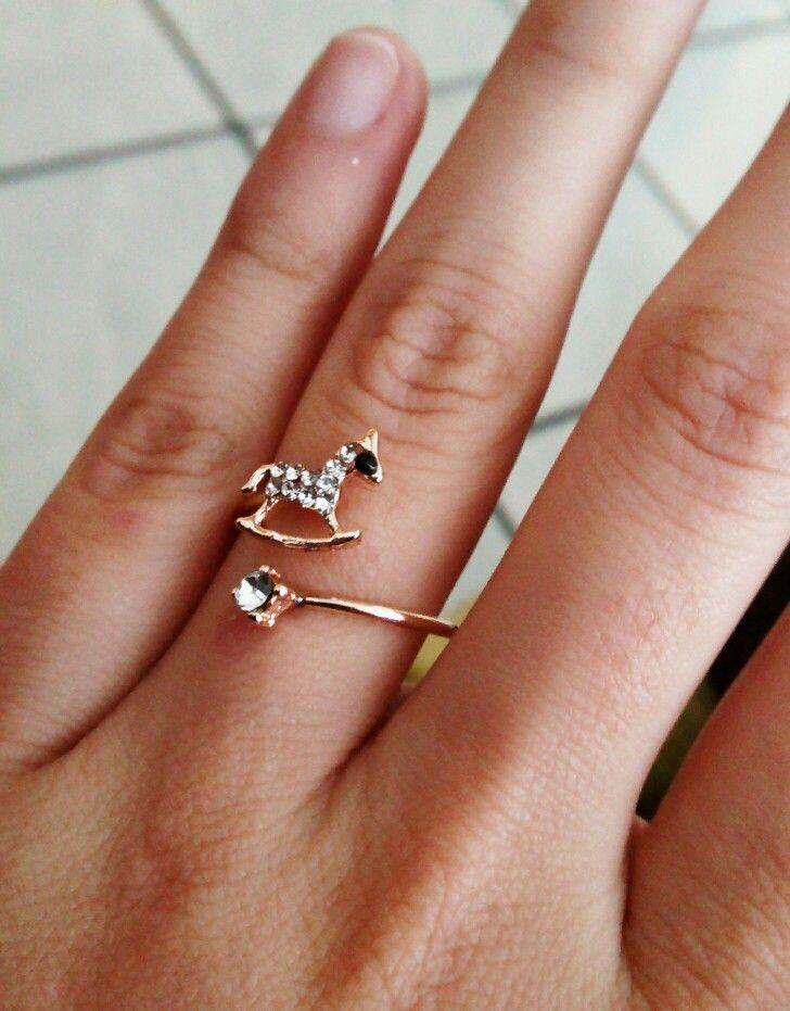 sitio de buena reputación f4da2 ecc2c Anillo de caballo ajustable $250 #anillodecaballo | Jewelry ...