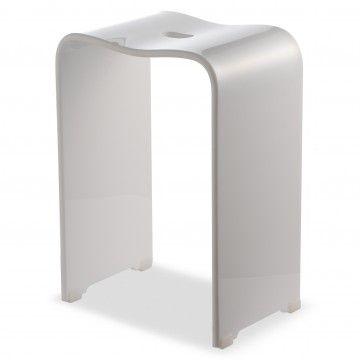 Ljungmann Stołek łazienkowy Akrylowy Kolor Biały L525001