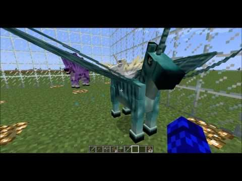 Minecraft 1.5.2 - Mo' Creatures - Fairy Horses and Wyverns