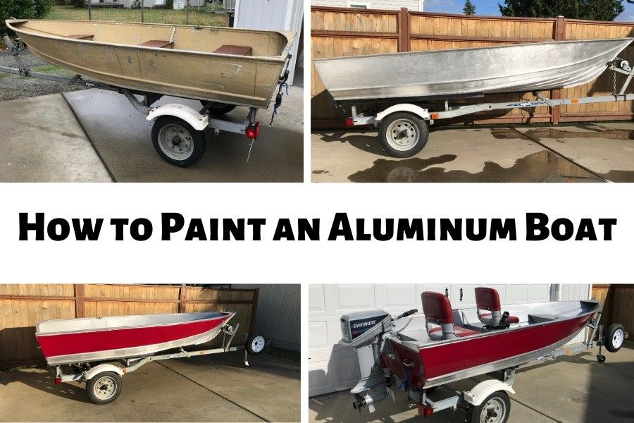 How to easily paint an aluminum boat with pictures in