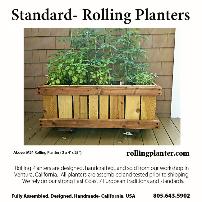 M24 2 X 4 X 25 Commercial Quality Rolling Planter Grow Almost Everything In This Planter Best For Plants That Ne Garden Planter Boxes Planters Plants