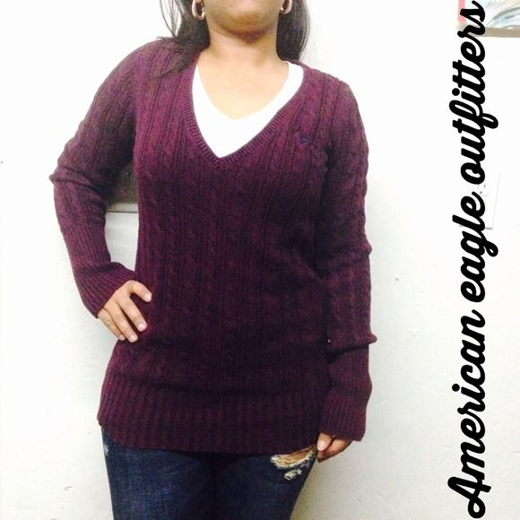 Plum color sweater Beautiful sweater by American eagle outfitters ...