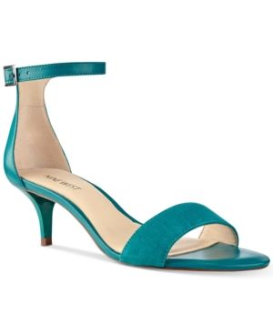 Nine West Leisa Two-Piece Kitten Heel Sandals - Blue 10.5M