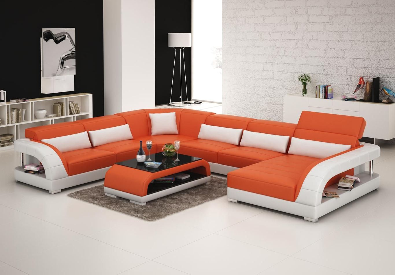 Viper Sectional Sofa From Opulent Items Ihso03125 Modern Sofa In
