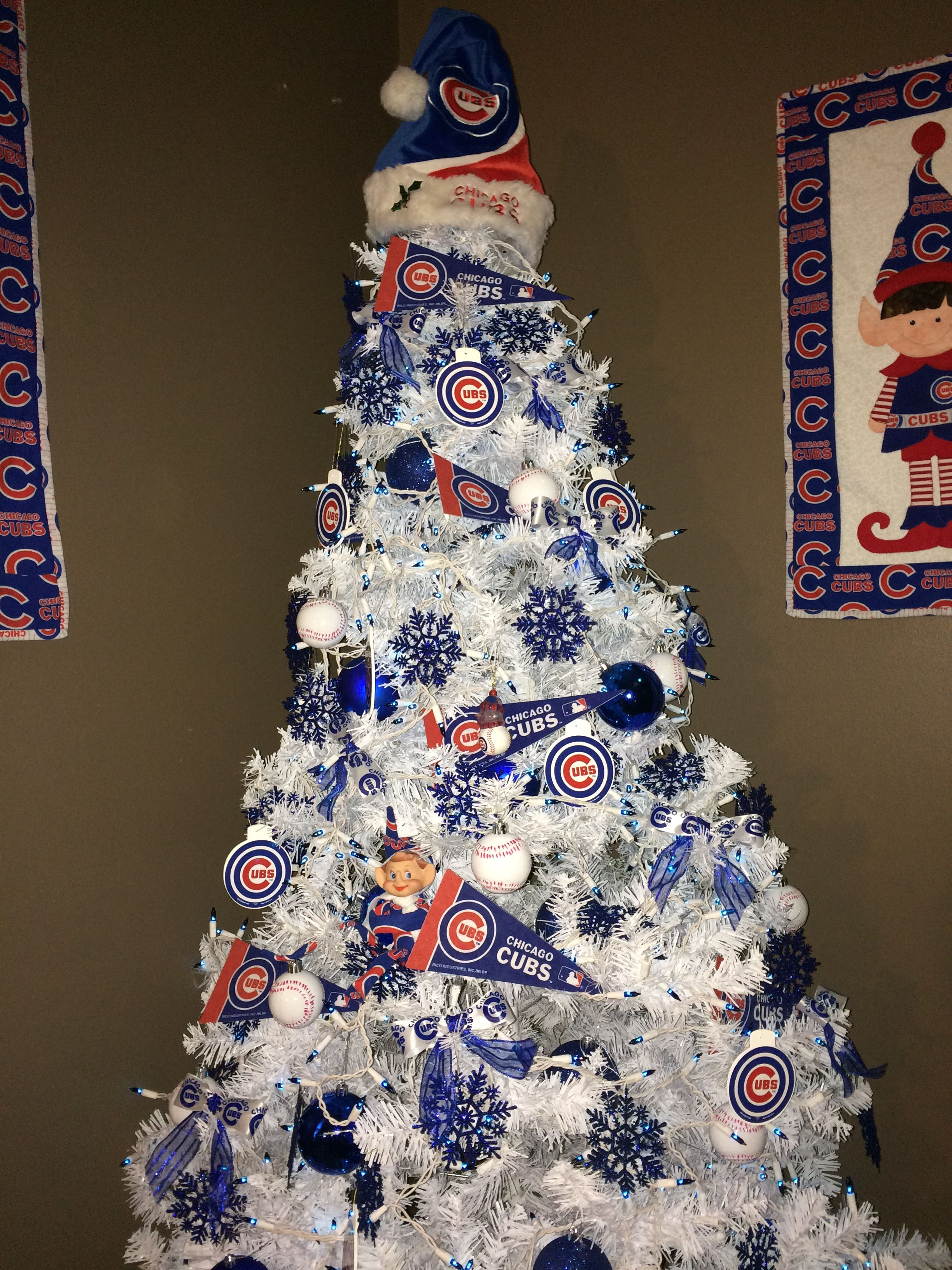Chicago Cubs Christmas tree cubbies   Quilts and other Creations ...
