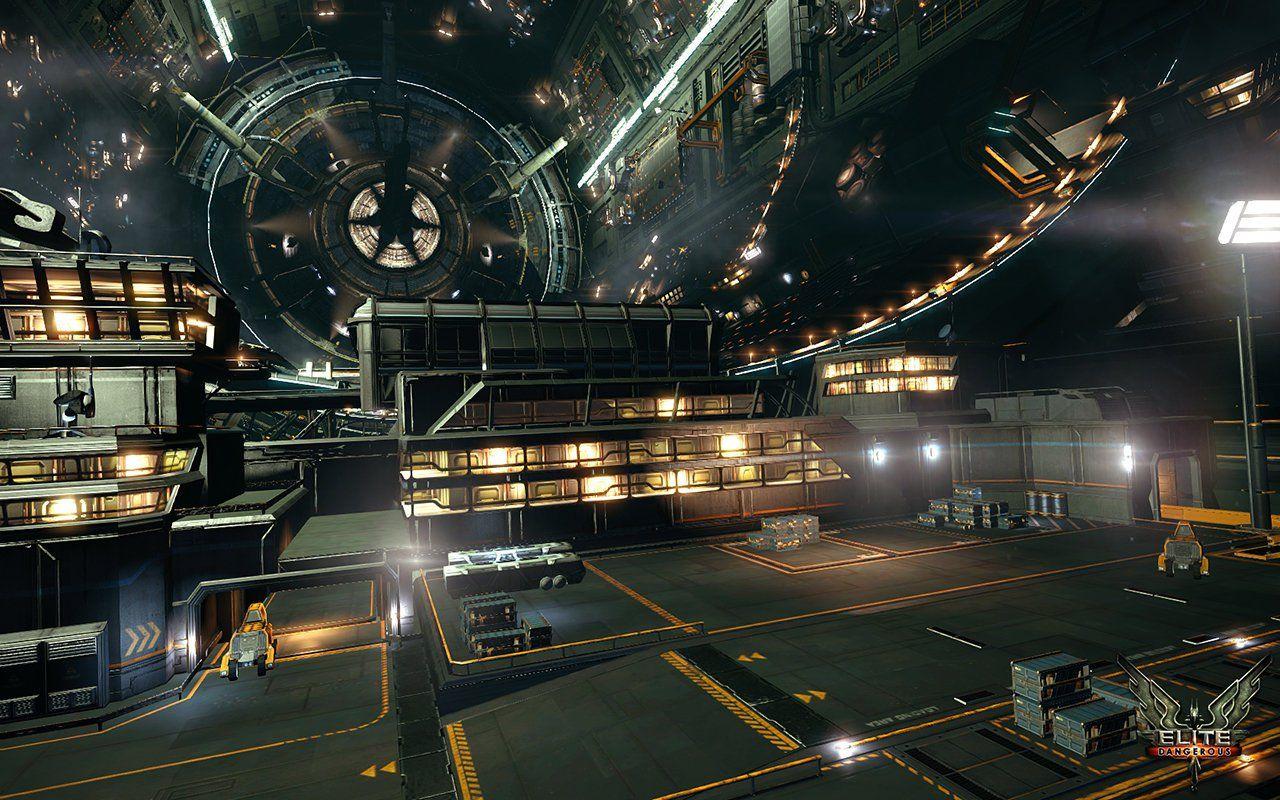 Inside a spacestation in elite dangerous | Spacestations
