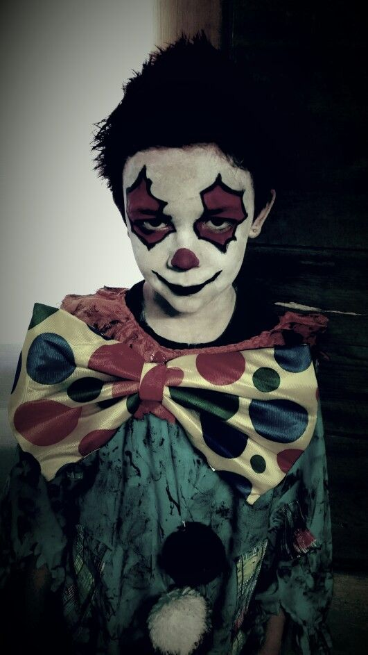 Kids Creepy Clown Costume For