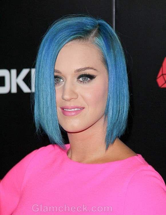 Katy Perry Blue Hair Inverted Bob Hairstyles Katy Perry Hair