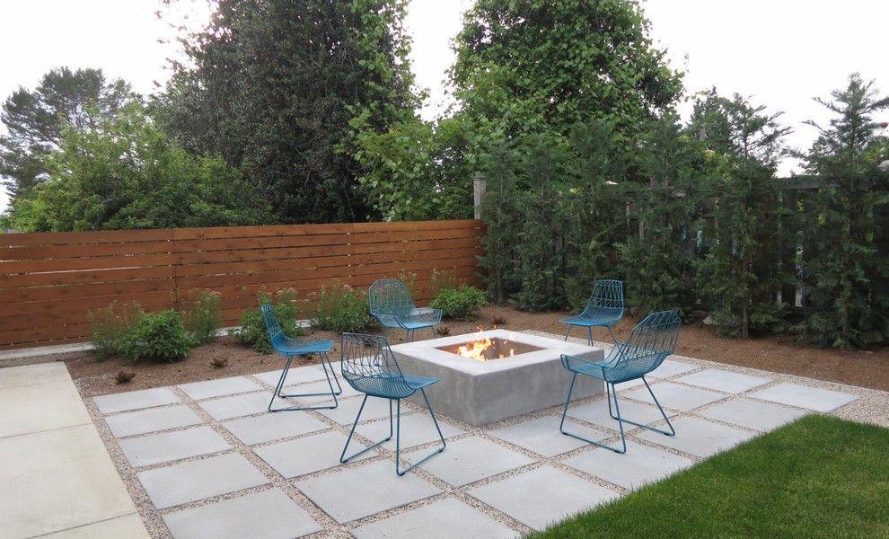 Mid Century Modern Concrete Patio Landscaping Gardening Ideas