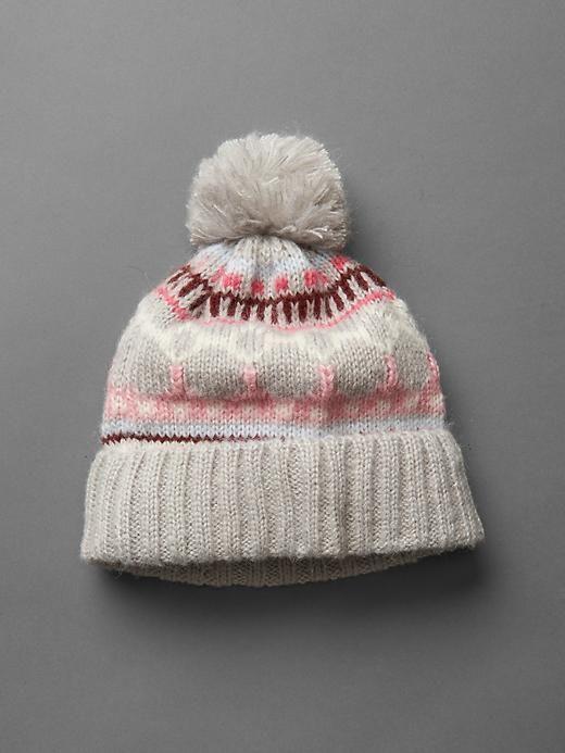 Fair isle pom-pom hat | was schickes | Pinterest | Pom pom hat and ...