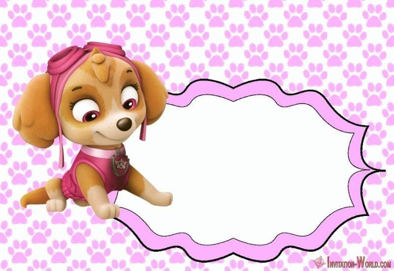 These Are My First Template Designs Add The Appropriate Wordings And Photo And Enjoy You In 2020 Paw Patrol Invitations Paw Patrol Birthday Girl Skye Paw Patrol Party