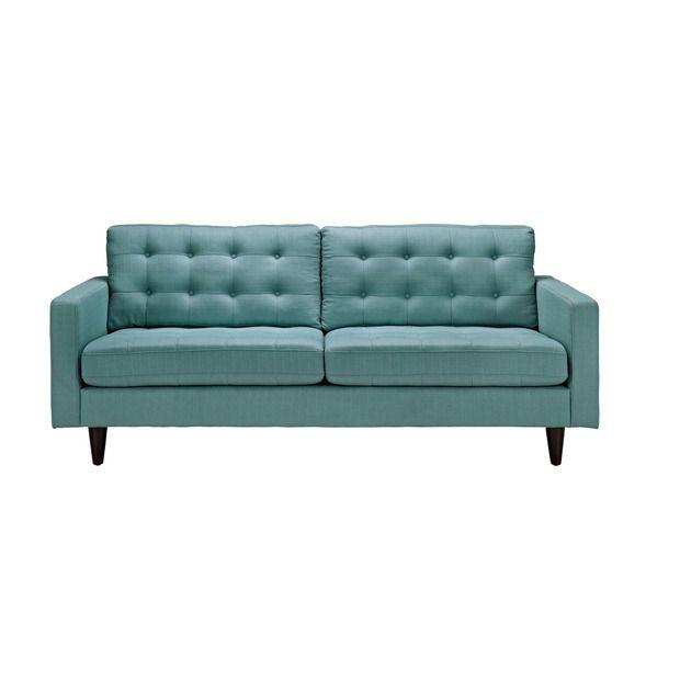 Fabris Sofa In Light Blue Upholstered Sofa Upholstered Fabric Fabric Sofa