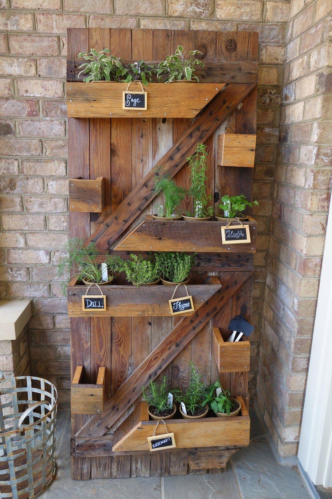 Vertical herb garden made a reclaimed wood barn door. $525 ...