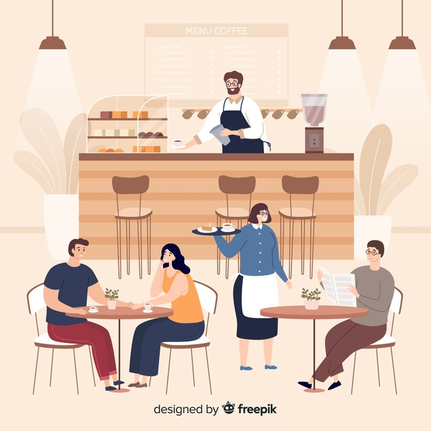 Download People Sitting At The Cafe For Free In 2020 Character Design Disney Concept Art People Illustration
