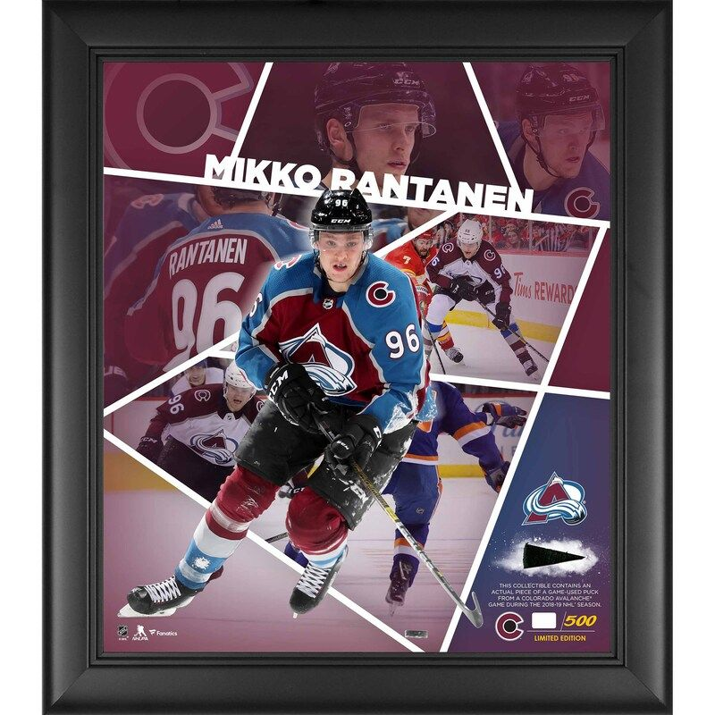 Mikko Rantanen Colorado Avalanche Fanatics Authentic Framed 15 X 17 Impact Player Collage With A Piece Of Game Used Puck Colorado Avalanche Puck Avalanche