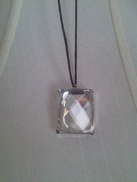 Rectangle Jewel Long Necklace by BeatzSweets on Etsy, $1.00