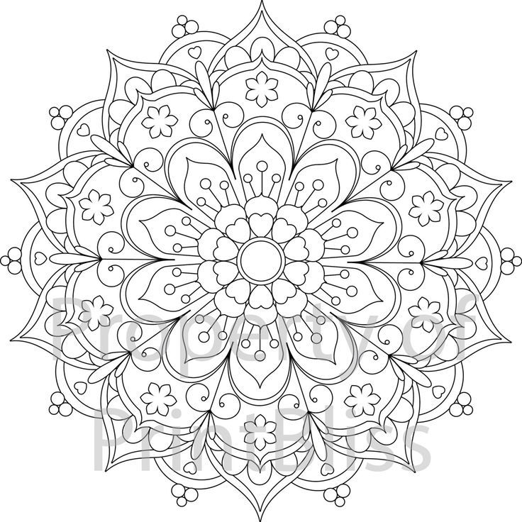 Printable Coloring Pages Mandala Coloring Pages