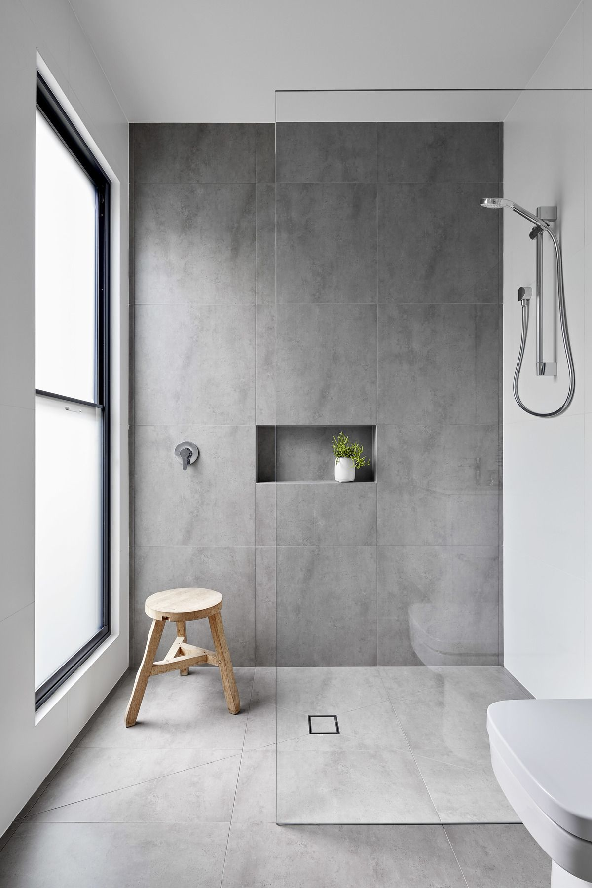 A House That Shows Us A Lean To Can Be A Blessing Not A Curse Modern Bathroom Design Modern Bathroom Bathroom Interior Design