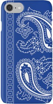 the best attitude 874d8 b2ca9 Blue and White Paisley Bandana ' iPhone Case by ShowYourPRIDE ...
