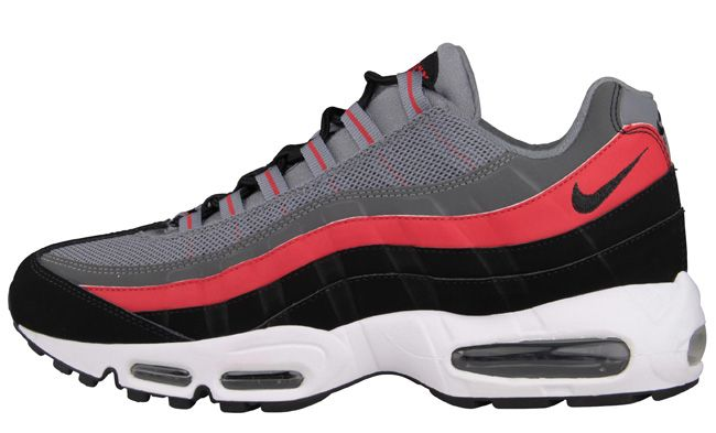 huge selection of 34b03 d7c9a Nike Air Max 95   Cool Grey, Black   University Red