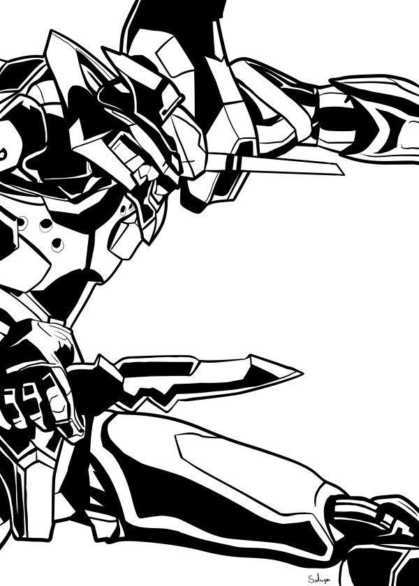 Fanart Based On Neon Genesis Evangelion Anime Manga In Black