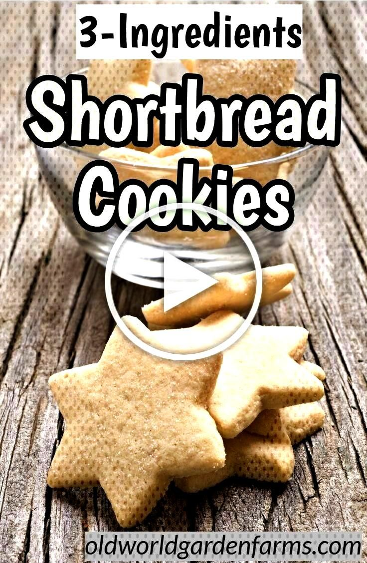 Ingredients Shortbread Cookies - these cookies are so easy to make and perfect for the cookie trays