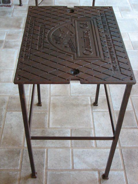 Delicieux Vintage Industrial Metal Table Columbus GA Waterway By SnodonIron