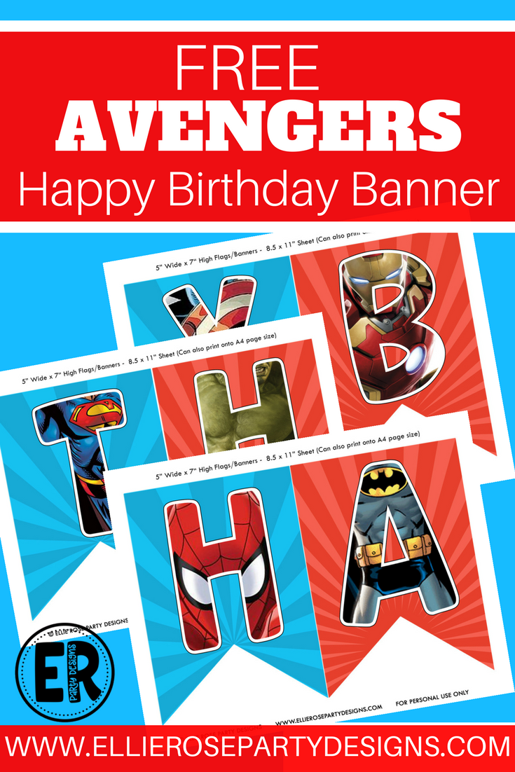 The Avengers: The Avengers Happy Birthday Printables. Looking For A Free