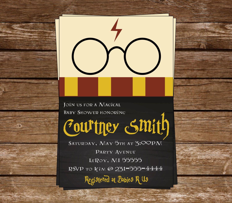 Harry Potter Baby Shower Invitation-Harry Potter-Chalkboard Invite ...