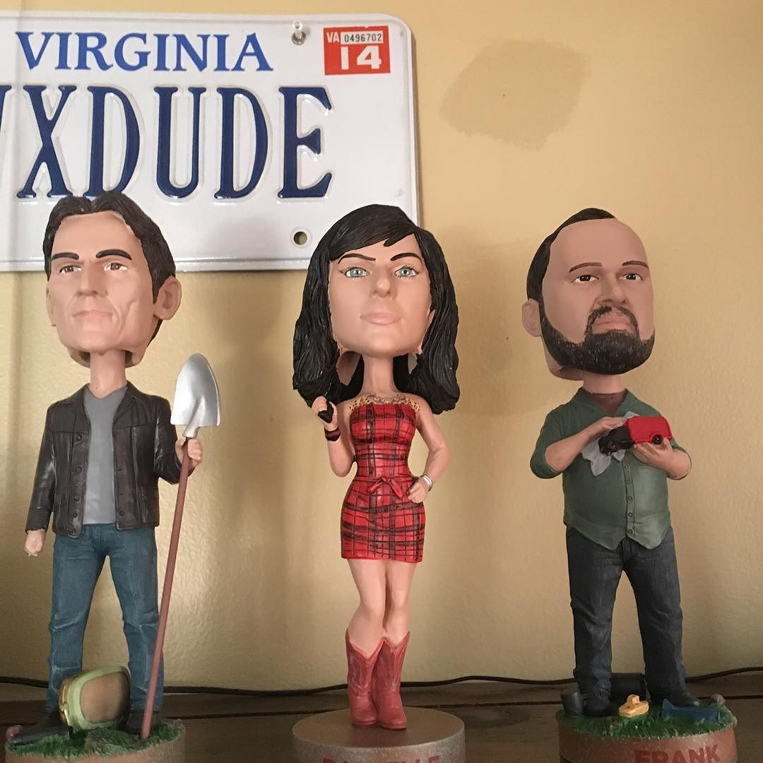 Thanks to the family for the @americanpickers bobble heads.