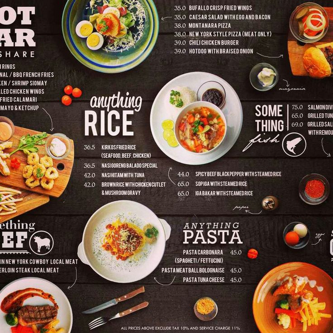 Ziiiro Celeste Getcreative Restaurant Menu Design Food Menu