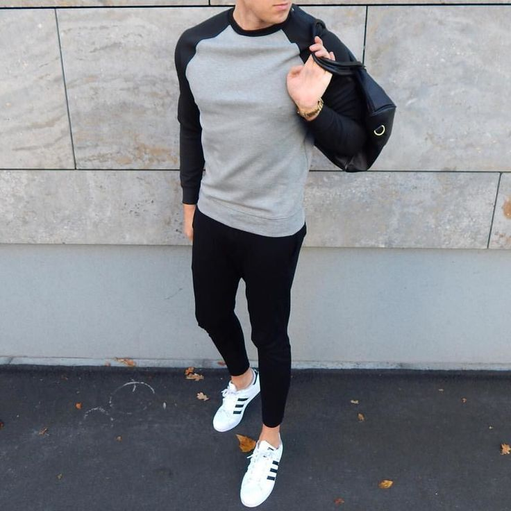Mens style black skinny pants adidas #menswear #streetwear