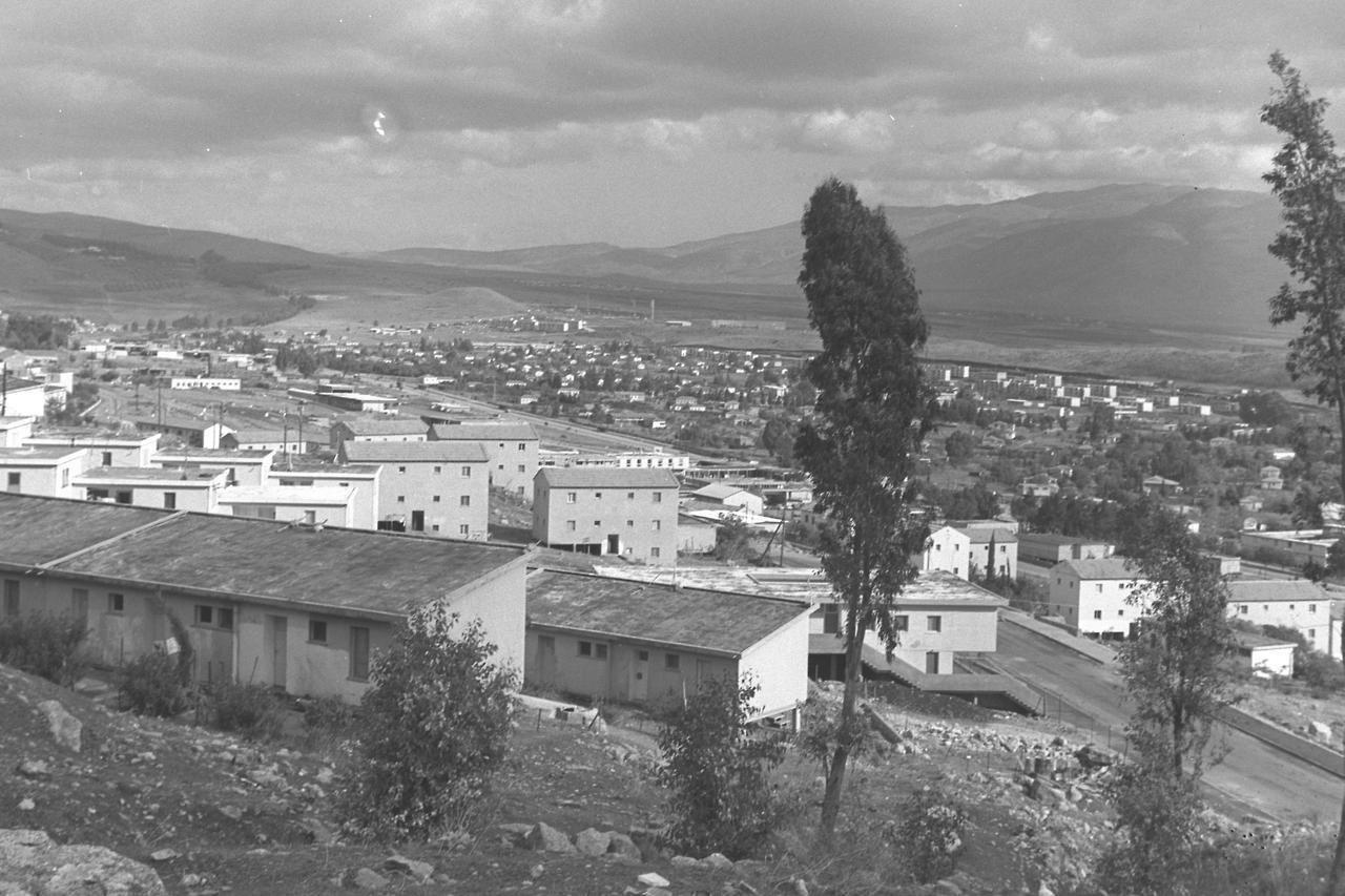 View of Kiryat Shmona, Israel; 1964.