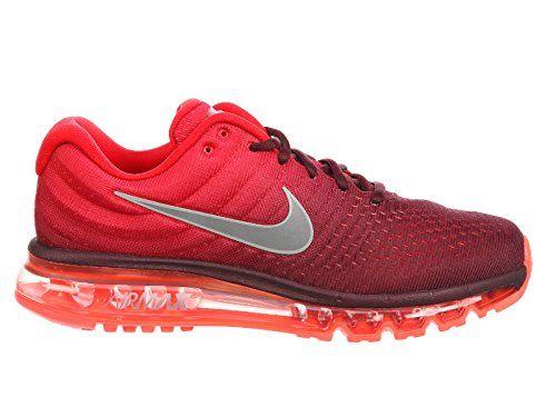 Air Max 2017 Maroonwhitegym Running Red Nike Nylon Shoes Men's knN0P8OwX