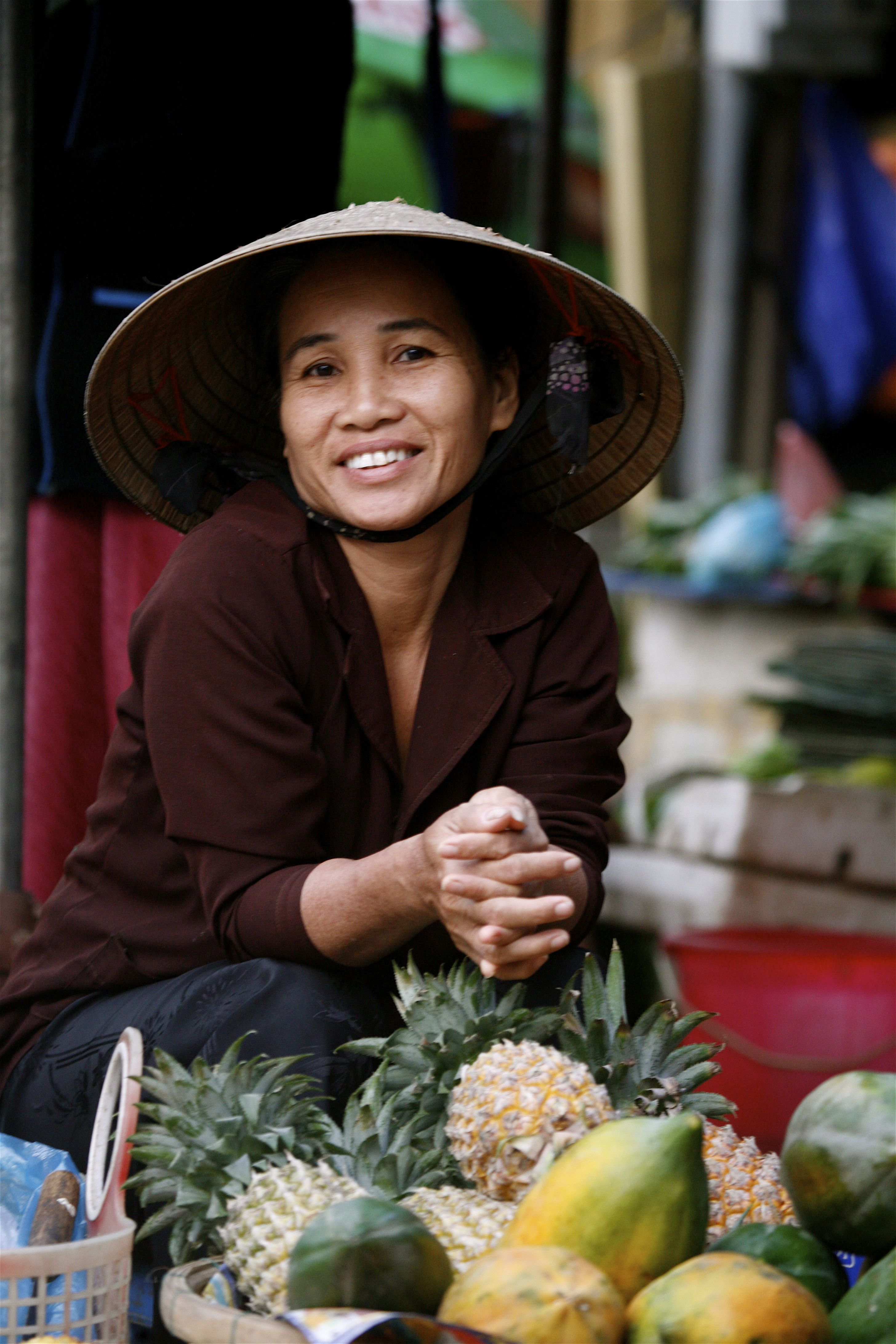 floating markets of the Mekong River delta, Vietnam