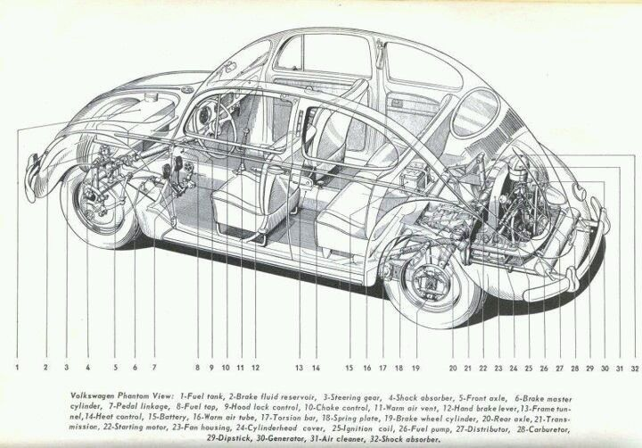 vw super beetle schematic