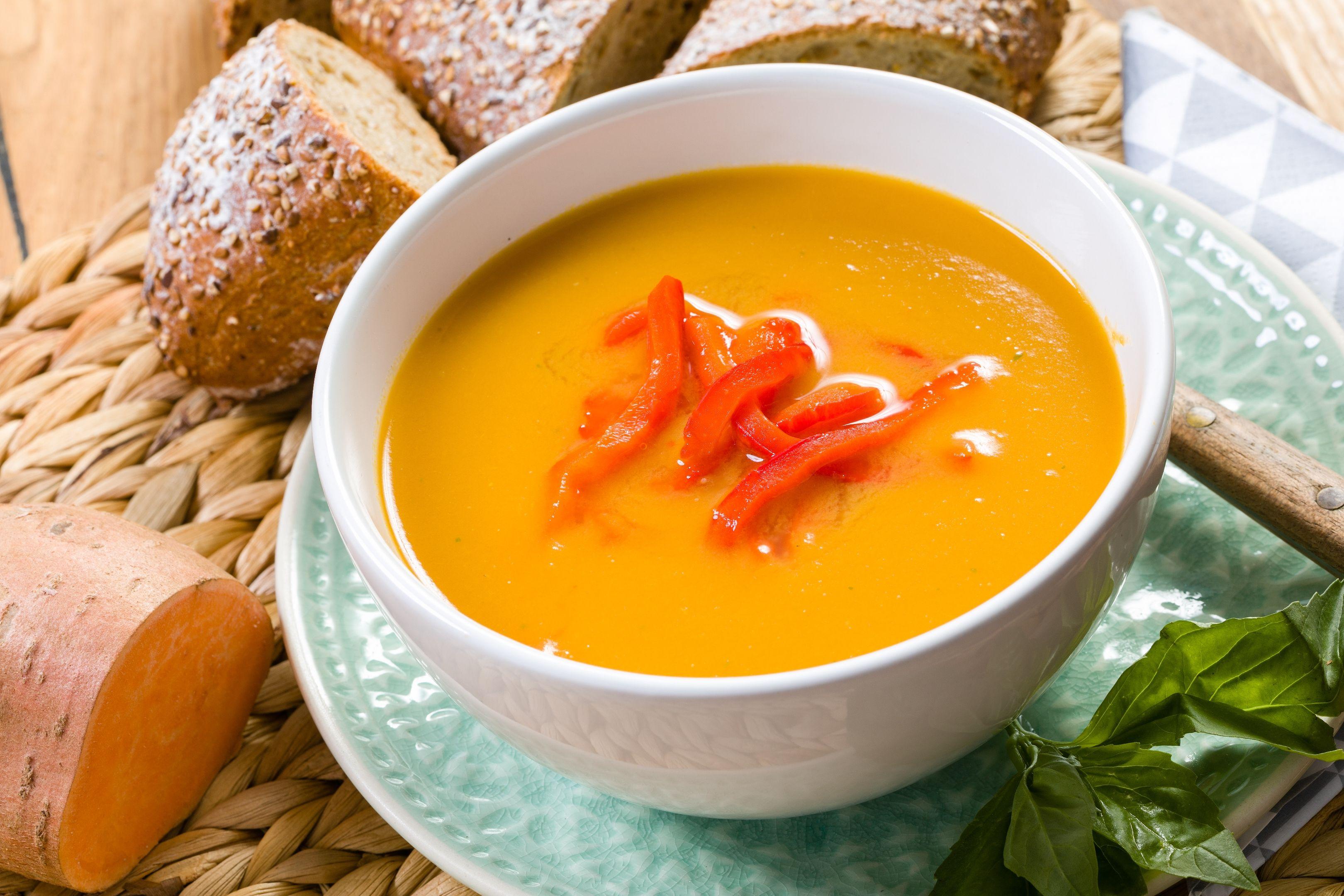 Sweet potato soup.  #sweetpotato #zoeteaardappel #Süßkartoffel #suppe #soup #soep