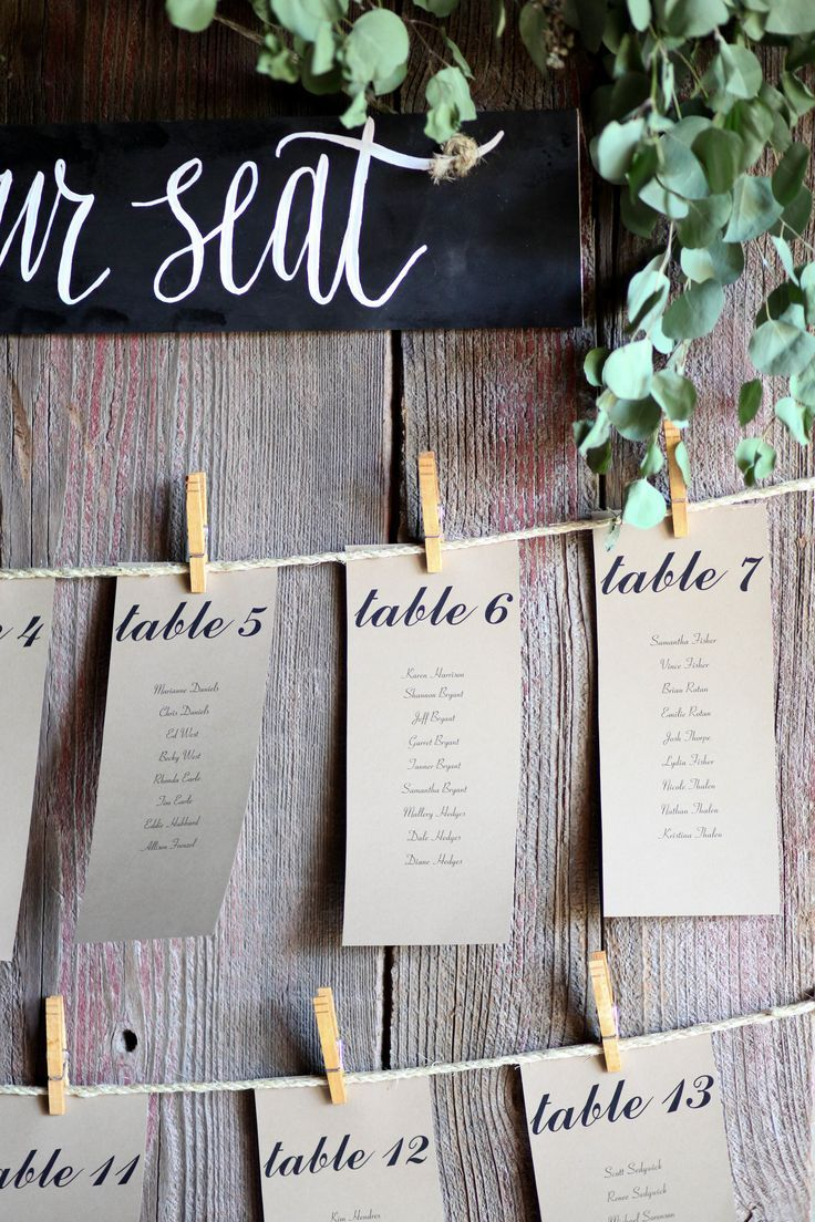 Paso Robles Winery Wedding Table Seatingwedding Cardsname Place