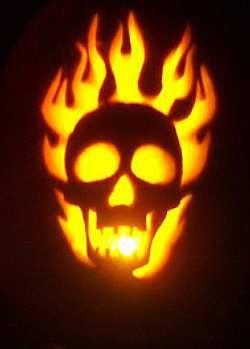 Skull Flames Halloween Pumpkin Carving Pumpkin Carving Kits
