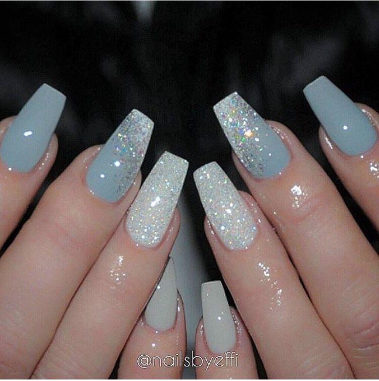 Pinterest Nattat74 Nail Designs Blue Acrylic Nails Gorgeous Nails