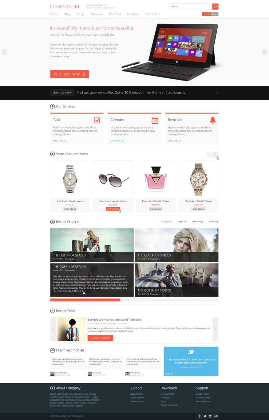 10 freie photoshop psd website templates frisch inspiriert web composure website psd template maxwellsz