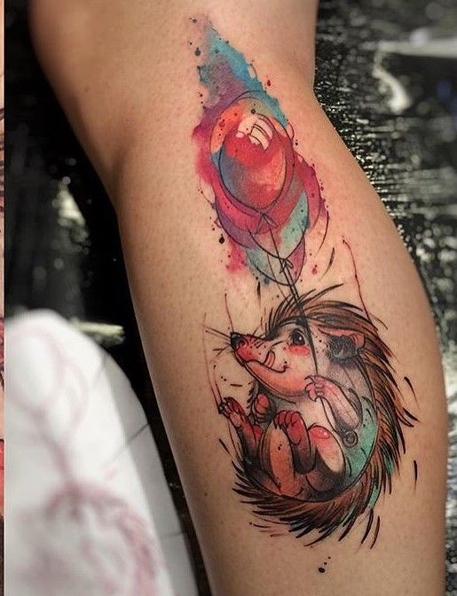 48cb283cd 22 Extremely Cute Hedgehog Tattoo Designs | Hippie juice | Hedgehog ...