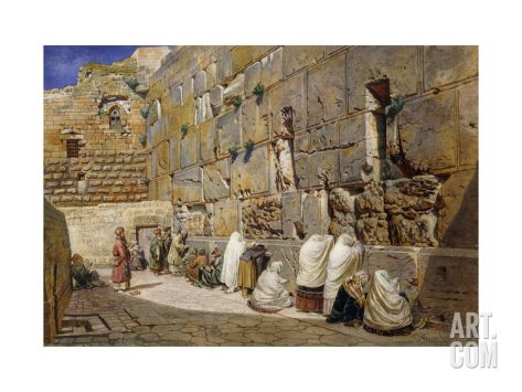 The Wailing Wall, Jerusalem Giclee Print by Carl Friedrich Heinrich Werner at Art.com